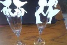marque place,carte de verre,decoration table mariage