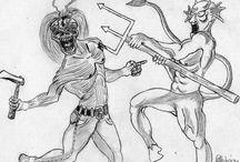 Iron Maiden Eddie My Art work / Eddie rajzaim