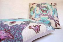 original handmade pillowsets and blankets / home decorations, shibori, handpainted, originals,textile, collage