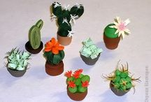 3D quilling about cactus