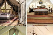 Glamping Ideas / Make your next camping trip even more glamorous with these camping hacks and ideas for your next glamping weekend.