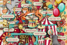 Circus scrapbooking kits / Digital scrapbooking kits and elements with a circus theme.