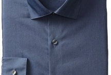 Kenneth Cole Reaction Men's Slim Fit Chambray Dress Shirt
