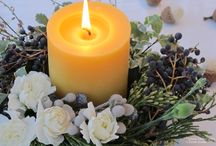 Our Beeswax Candles / We handcraft only pure beeswax candles using solar energy. Our wicks are 100% cotton.