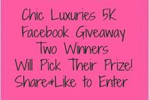 ChicLuxuries.com Giveaways / by Cynthia Knisely