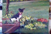 My doggie portrait commissions