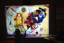 Niños aprendiendo Arte