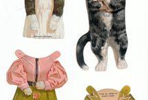 Paperdolls7 Птицы, звери, рыбы  / Птицы, звери, рыбы - бумажные куклы с одеждой.