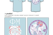 Phi Mu / Phi Mu custom shirt designs #phimu #pm  For more information on screen printing or to get a proof for your next shirt order, visit www.jcgapparel.com