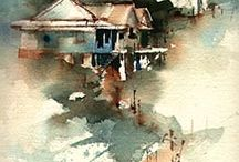 Watercolor_Paintings / #Watercolor #painting #architecture #architect #sketch #drawing