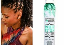 whip it up mousse on natural hair / NYM Whip it up mousse on natural hair