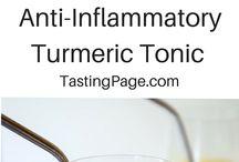 Tumeric lemon ginger tonic
