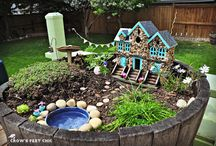 fairy garden for the tree stump