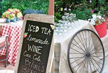 Esküvő - Bike dekor