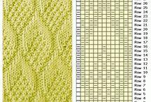 Strikk ensfarget mønster
