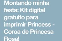 kit coroa princesa