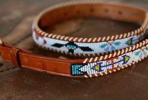 Indianische Gürtel / Lakota Beaded Belts