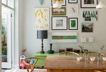 Gallery Wall / Interesting and fun ways of displaying artwork