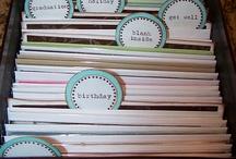 Organisation / sorting and organising,