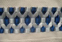 toalhas bordada com fitas