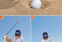 Golf Bunker Shots / Discover how to play golf bunker shots the right way and get the ball out out of the sand and close to the flag. Learn how to generate spin and get up and down for your par more often.