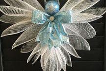 vánoční andelickove dekorace