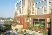 Sheraton, New Delhi Hotel / In heart of a busy upmarket residential area this red sandstone building rises eight storeys high. The hotel with exquisite cuisine and warmth of hospitality has earned a distinctive position amongst the 5 star hotels in Delhi.
