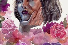 Watercolor / art / watercolor / painting