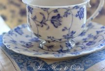 blue & white vintage china