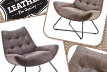 Comfortabele fauteuil in soepel vintage leder.