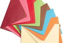 Plicuri Colorate /  Plicuri colorate folosite in mod special pentru invitatiile de nunta si nu numai.