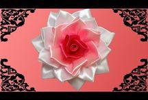 wykonanie róż ze wstążki
