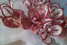 Bouquet de mariée .. perles de rocaille vintage par lecureuillecréative