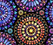 Rose windows quilt ideas