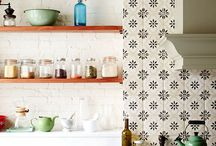 Handpainted Tile: Black & White Collection / Design ideas for this bold motif.