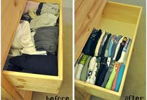 Vertical Folding / Fold clothes vertically to save space and make all clothes visible.
