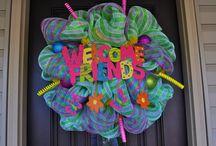 Deco Mesh Wreath / by Esmeralda Carlock
