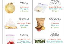vegetables storing