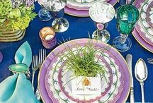 Spring Garden Party / Table settings for a spring party
