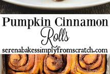 pumpkin rolls and pumpkin goodies