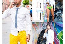 The Portside Collection 2017    Casual Friday / The Portside Collection is four uniquely and dynamically designed swimwear identities, each one inspired by a famous ship. Whether it's the Santa Maria's spirit of adventure found in its vibrant colorful curves, The Victoria's worldly aesthetic found in diverse color blocking with an international flair, The Mayflower's bold daring found in its striking color stripe that's a guaranteed head-turner, or The Eclipse's relaxed, fun enthusiasm found in the playful and flattering colorful patterns.