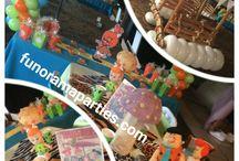 Flintstones Birthday party Decorations / Pebbles & Bam Bam Balloon Decorations and themed party decor