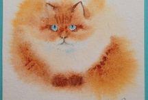 кошка мелками