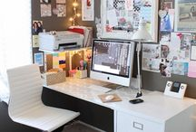 | office space | / inspiration and ideas for my own small home office space. / by bre pea.