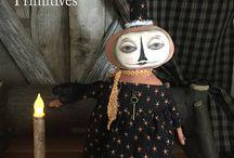 Handmade Primitive Folk Art Dolls