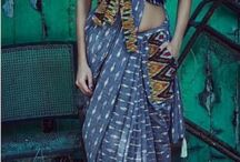 ikat ready-made saree