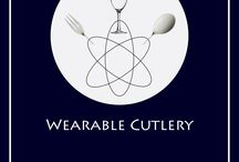 Wearable Cutlery / Wear your cutleries! Find more on Instagram @wearablecutlery