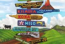 hawaii/beach signs