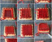 pin square and weaving