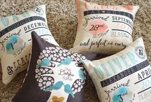 Personalized Birth Stat Pillows / Personalized pillows make an amazing gift and add the perfect amount touch of style to your home decor. At Little Monkey Designs we create personalized pillows for just about everyone. We have birth stat pillows, home welcoming pillows among many others. Head over to our website to check out our full line.